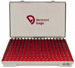 Vermont Gage 240 Piece 0 011 0 25 Inch Diameter Plug And Pin Gage Set Plus 0