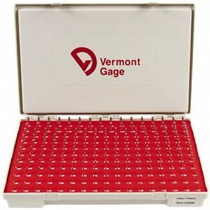 Vermont Gage 185 Piece 1 31 4 99 Mm Diameter Plug And Pin Gage Set Minus 0 0