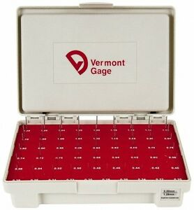 Vermont Gage 55 Piece 0 2 1 28 Mm Diameter Plug And Pin Gage Set Minus 0 01
