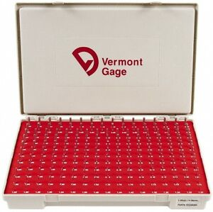 Vermont Gage 185 Piece 1 3 4 98 Mm Diameter Plug And Pin Gage Set Minus 0 01