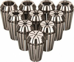 Etm 10 Piece 0 79 To 9 53mm Capacity Er Collet Set Series Er16 Increments