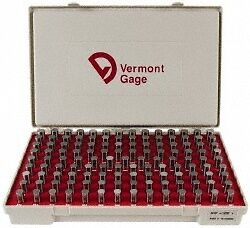 Vermont Gage 125 Piece 0 501 0 625 Inch Diameter Plug And Pin Gage Set Plus