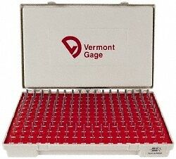 Vermont Gage 190 Piece 0 0615 0 2505 Inch Diameter Plug And Pin Gage Set Plu