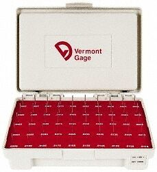 Vermont Gage 50 Piece 0 0115 0 0605 Inch Diameter Plug And Pin Gage Set Minu