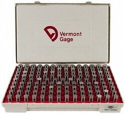 Vermont Gage 125 Piece 0 626 0 75 Inch Diameter Plug And Pin Gage Set Minus