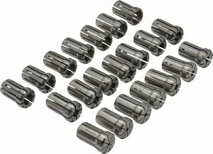Parlec 21 Piece 1 8 To 3 4 Inch Capacity Double Angle Collet Set Collet Ser
