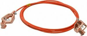 Hubbell Workplace 19 Awg 10 Ft Alligator Clip Grounding Cable With Clamps