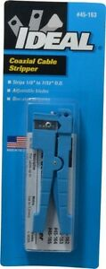 Ideal 1 8 To 7 32 Inch Diameter Coaxial Wire Stripper For Use With Cat5 Cb