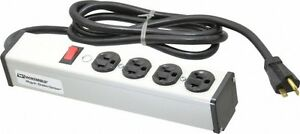 Wiremold 4 Outlets 120 Volt 20 Amp 1 8 M Cord Length Power Outlet Strip 5