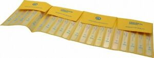 Precision Brand 20 Piece 0 03 To 0 76mm Parallel Feeler Gage Set 5 Long X 1