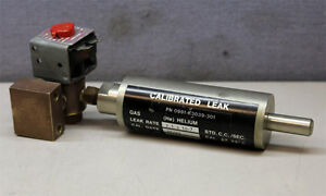Varian Vacuum Technologies 0981 k3039 301 Calibrated Calibrating Leak Detector A