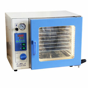 Hfs r 0 9 Cu Ft Vacuum Oven 12x12x11 Stainless Chamber Led Lights 7 Shelves