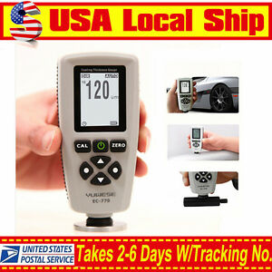 Handheld Thickness Meter Test Lcd Digital Paint Coating Gauge Detection Dir gen