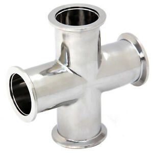 Hfs Kf25 nw25 Four 4 Way Cross Fitting Stainless Steel