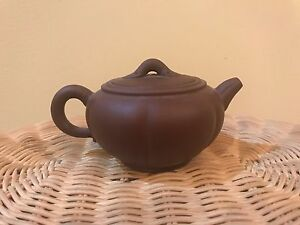 Brown Chinese Yixing Teapot Great For Tea Use Or Decoration