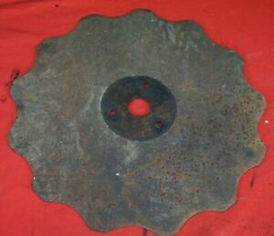 Ih Farmall Cub 193 189 Super A C Plow Rolling Colter Scallop Blade 194 Coulter