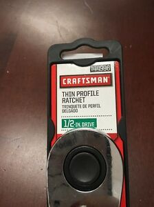 Brand New Craftsman 9 44996 1 2 Inch Drive Quick Release Thin Profile Ratchet