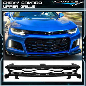 Fits 16 18 Chevy Camaro Zl1 Style Gloss Black Front Hood Upper Grille Abs