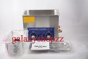 New 6 5l Ultrasonic Cleaner Timer Heater 180w Jewelry Watches Dental Tattoo