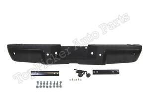 Rear Step Bumper Black Assy Pad With Sensor Hole For 2013 2015 Ford Super Duty