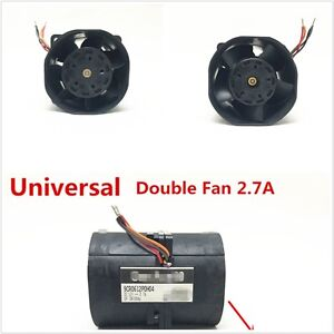Universal Electric Turbine Turbo Double Fan Turbo Charger Boost Intake Fans 2 7a