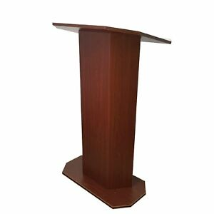 School Lectern Wood Church Podium Mahogany Pulpit Event Hotel Lectern Talk Stand