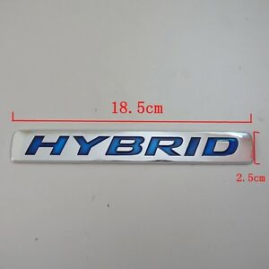 Hybrid Sticker Brand 3d Logo Universal Auto New Car Abs Emblem Badge Decal