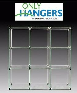 Only Hangers 9 Cube Glass Display Unit 12 X 12 Glass