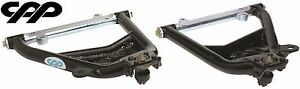 55 56 57 Chevy 150 210 Belair Cpp Black Lower Tubular Control Arms Usa Made