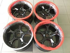 19 19 Inch Oem Spec Corvette Drag Racing Wheels Rims 19x11 5 Rep Black And Silv