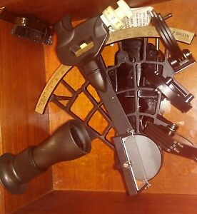 Weems Plath Sextant In Wooden Case Maritime Instrument Micrometer