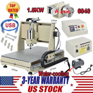 4 Axis Usb Cnc6040t Router Engraver 3d Cutter Engraving Milling Drilling Machine