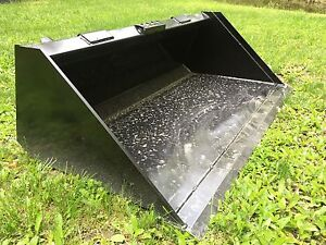 New Heavy Duty 60 Skid Steer Bucket For Bobcat Case cat john Deere