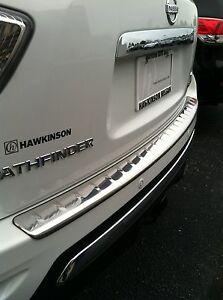 New Oem 2013 2016 Nissan Pathfinder Stainless Chrome Bumper Protector