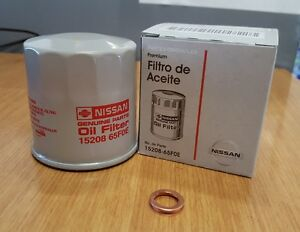 Oem Nissan Oil Filter 15208 65f0e With Drain Plug Washer