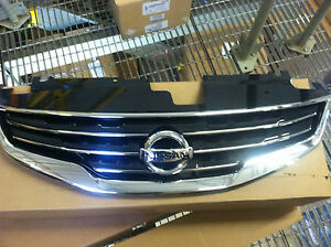New Oem 2010 2012 Nissan Altima Chrome Front Grille Comes With New Emblem