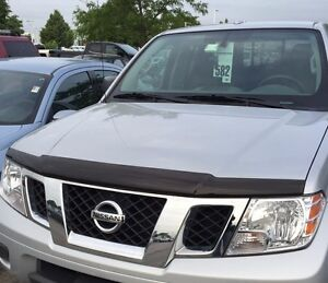 New Oem 2005 2019 Nissan Frontier Front Hood Protector Bug Guard Smoke Color