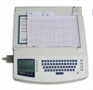 New Burdick By Mortara Eli 250 Deluxe Ekg Machine With Interpretation complete