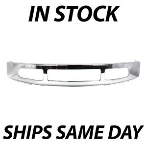 New Chrome Steel Front Bumper Face Bar For 2008 2010 Ford F250 F350 Super Duty