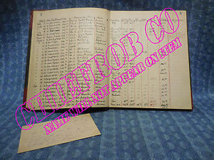 1928 1929 Whippet Original Dealer Record Book With Prices Trade In Information