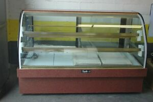Refrigerated Bakery Display Case Leader Mcb77 77 Curved Glass