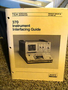 Tektronix 370 Curve Tracer Instrument Interface Guide