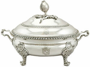 Antique George Ii Sterling Silver Soup Tureen Lewis Herne Francis Butty 1758