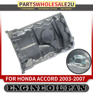Engine Oil Pan For Honda Accord 2003 2004 2005 2006 07 Pilot 3 0l 3 5l Acura Tl