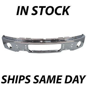 New Chrome Steel Front Bumper Face Bar For 2009 2014 Ford F150 Pickup W Fog