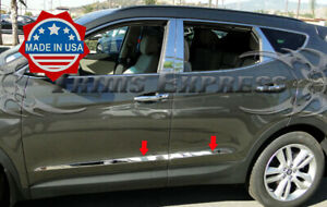 Fit 2013 2018 Hyundai Santa Fe Sport Body Side Molding Trim Stainless Steel