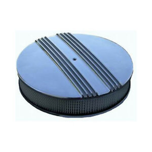 Rpc Air Cleaner Assembly R6720 Half Finned Polished Aluminum Round 14 X 3