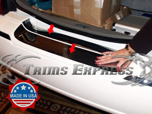 03 11 Lincoln Town Car Rear Trunk Protector Accent Trim Cover Door Chrome 2pc