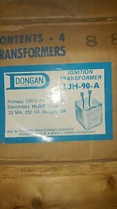 Dongan Multi former Ignition Transformer Model Ljh 90a box Of 4
