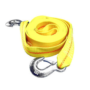 Hfs R Father S Day 2 X 30 Ft Tow Strap Rope 2 Hooks 10000lb Towing Recovery